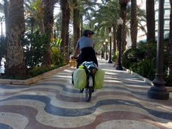 Riding through Alicante's parks