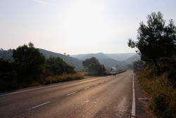 Just outside of Denia, the route into a regional park