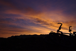 Bikes at sunrise in the Valley du Draa