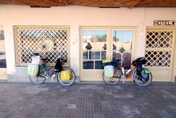 Bikes loaded ready to leave Zagora