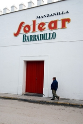 One of the sherry bodegas in Sanlucar