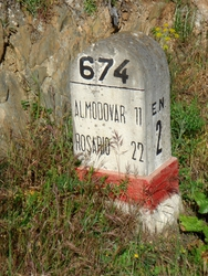 Portugese road marker