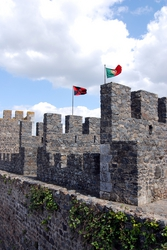 Portugese flags flying
