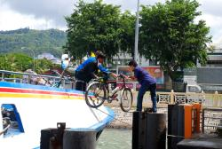 Bikes unloaded into Malaysia